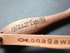 画像3: ◆オリジナル彫刻入り 片面◆ 【onagawa fish】キーホルダー